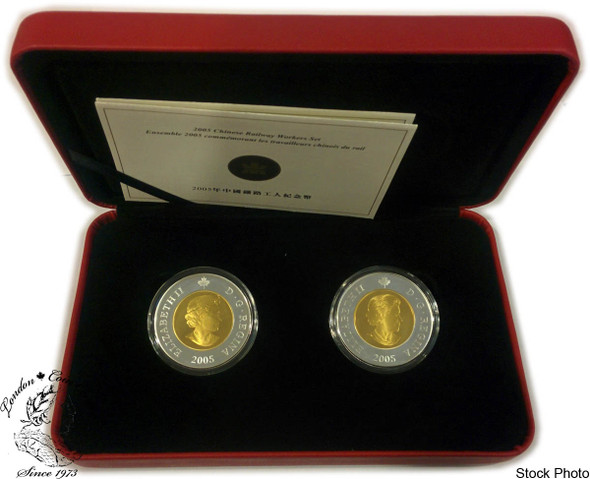 Canada: 2005 $8 Commemoration of the Chinese Railway Workers Two Silver Coin Set