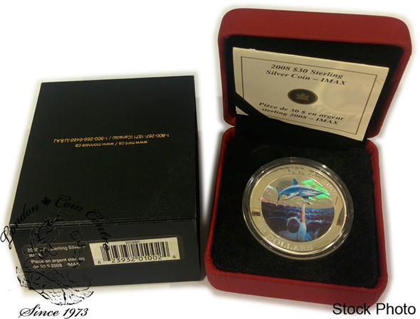 Canada: 2008 $30 Canadian Achievement - IMAX Sterling Silver Coin