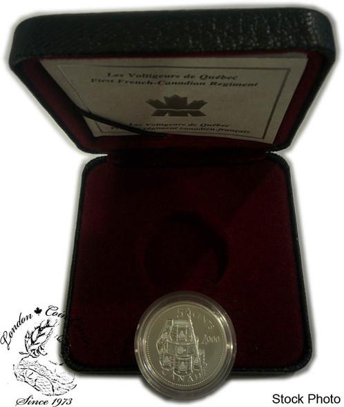 Canada: 2000 5 Cent Les Voltigeurs de Quebec Sterling Silver Coin