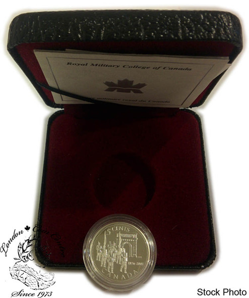 Canada: 2001 5 Cent 125th Anniversary of the Royal Military College Sterling Silver Coin