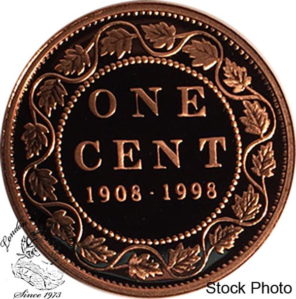 Canada: 1998 1 Cent Commemorative 1908 - 1998 Proof Coin
