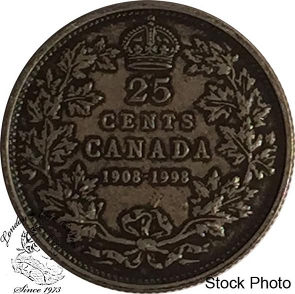 Canada: 1998 25 Cents Commemorative 1908 - 1998 Antique Coin