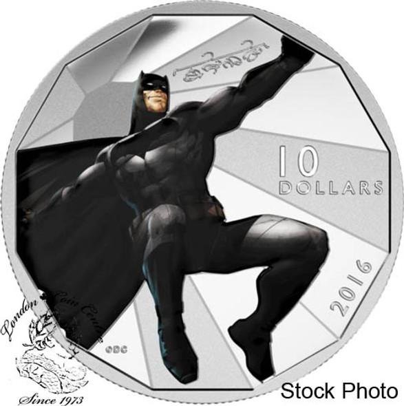 Canada: 2016 $10 Batman vs Superman - Batman Silver Coin