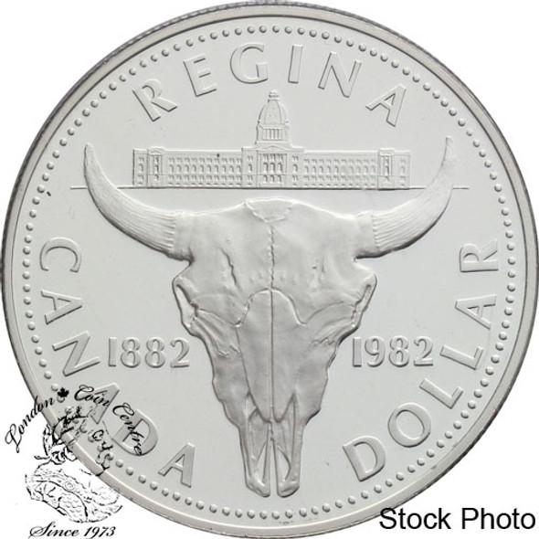 Canada: 1982 $1 Regina Centennial Proof Silver Dollar Coin