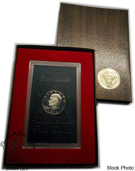 United States: 1971 Eisenhower Proof Silver Dollar Coin