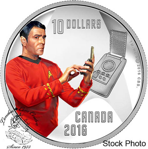 Canada: 2016 $10 Star Trek Crew Scotty 1/2 Ounce Silver Coin