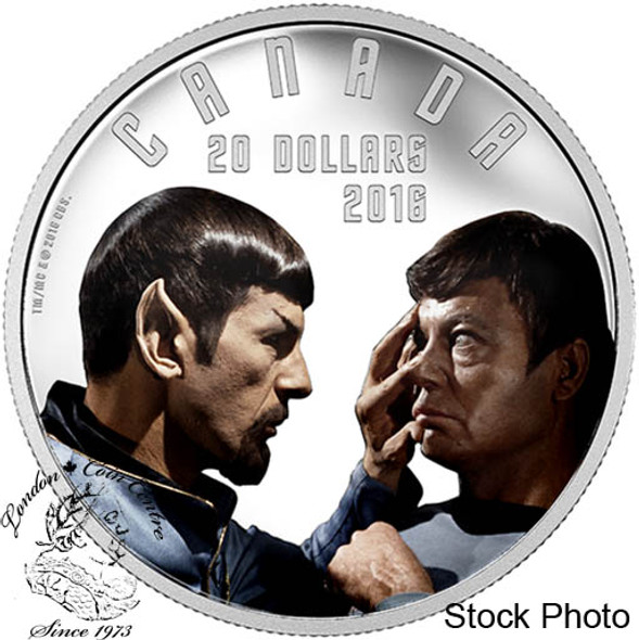 Canada: 2016 $20 Iconic Star Trek Scenes Mirror Mirror 1 Oz Silver Coin