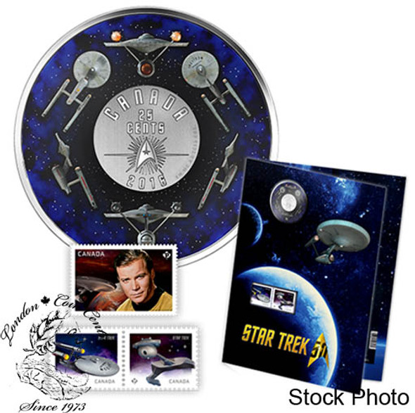 Canada: 2016 25 Cent Star Trek Coin and Stamp Set