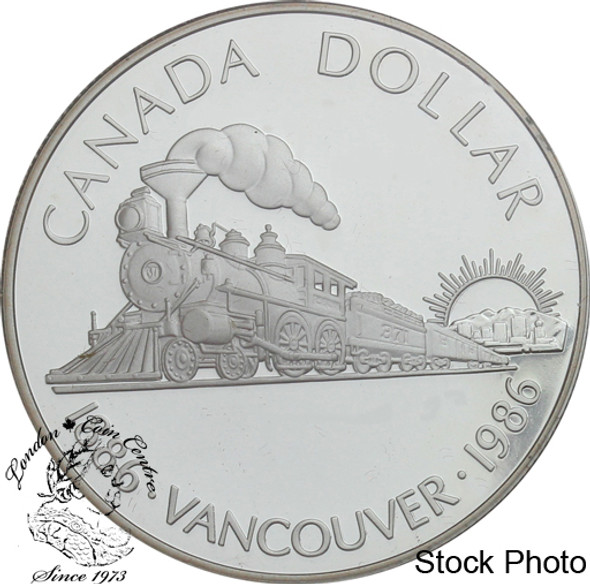 Canada: 1986 $1 Vancouver Centennial Proof Silver Dollar Coin