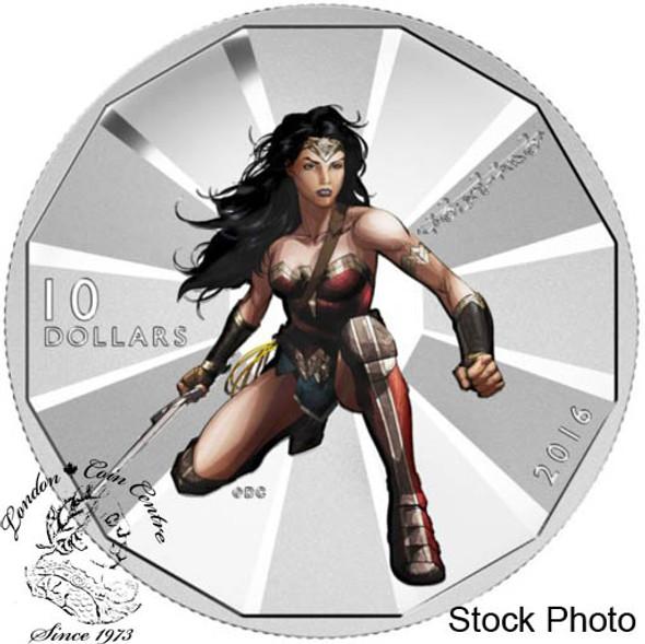 Canada: 2016 $10 Batman vs Superman - Wonder Woman Silver Coin