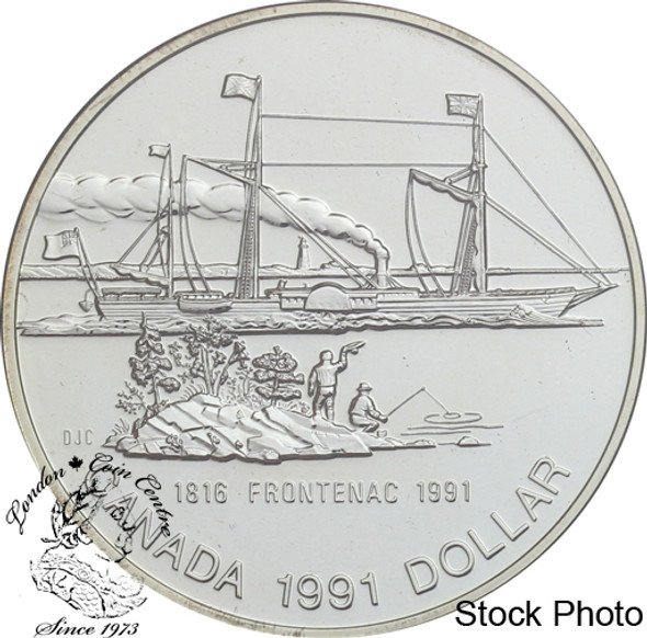 Canada: 1991 $1 175th Anniversary Of The Frontenac BU Silver Dollar Coin