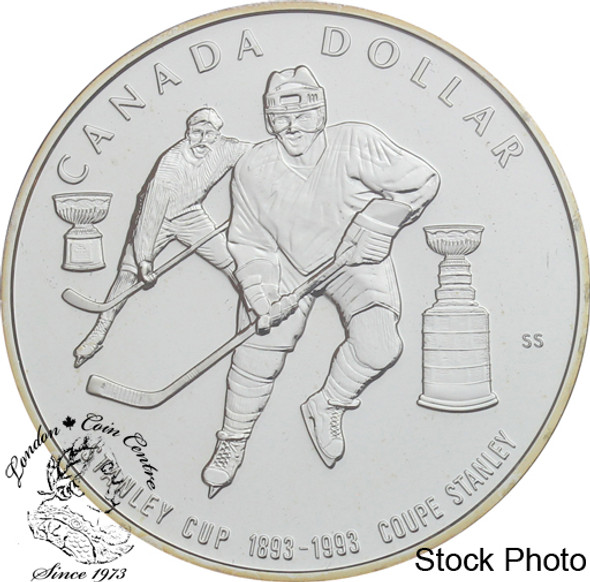 Canada: 1993 $1 100th Anniversary of the Stanley Cup BU Silver Dollar Coin