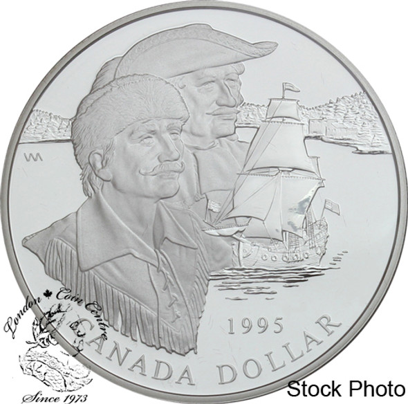 Canada: 1995 $1 325th Anniversary of the Hudson's Bay Company Proof Silver Dollar Coin