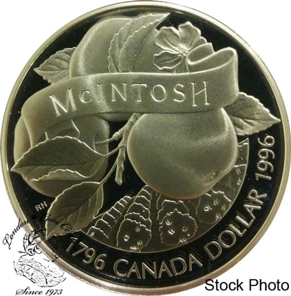Canada: 1996 $1 200th Anniversary John McIntosh Proof Silver Dollar Coin