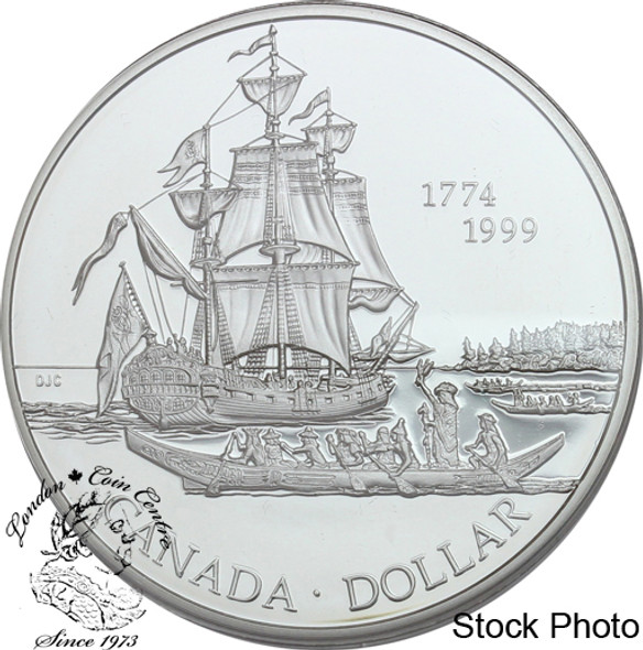 Canada: 1999 $1 225th Anniversary of the Voyage of Juan Perez Proof Silver Dollar Coin