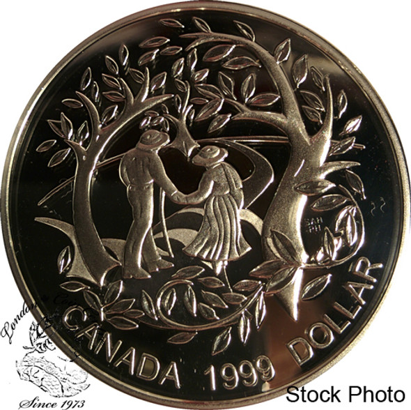 Canada: 1999 $1 International Year of Older Persons Proof Silver Dollar Coin