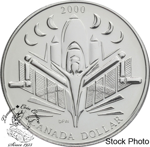 Canada: 2000 $1 Voyage of Discovery BU Silver Dollar Coin