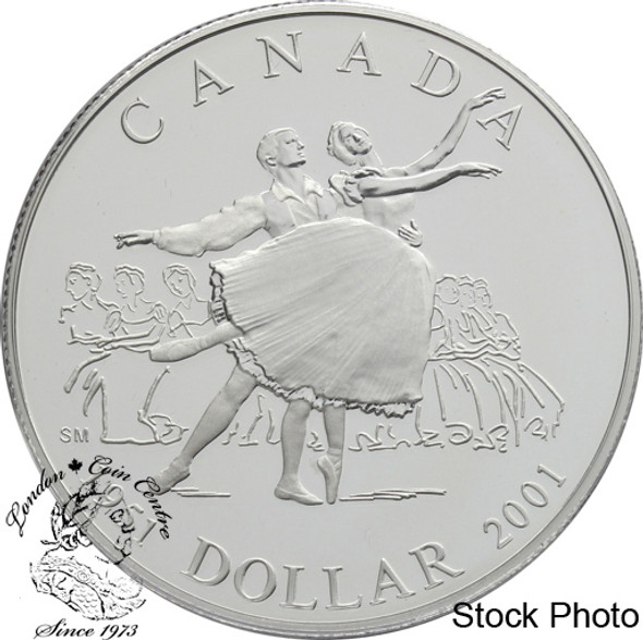 Canada: 2001 $1 50th Anniversary of the National Ballet of Canada Proof Silver Dollar Coin