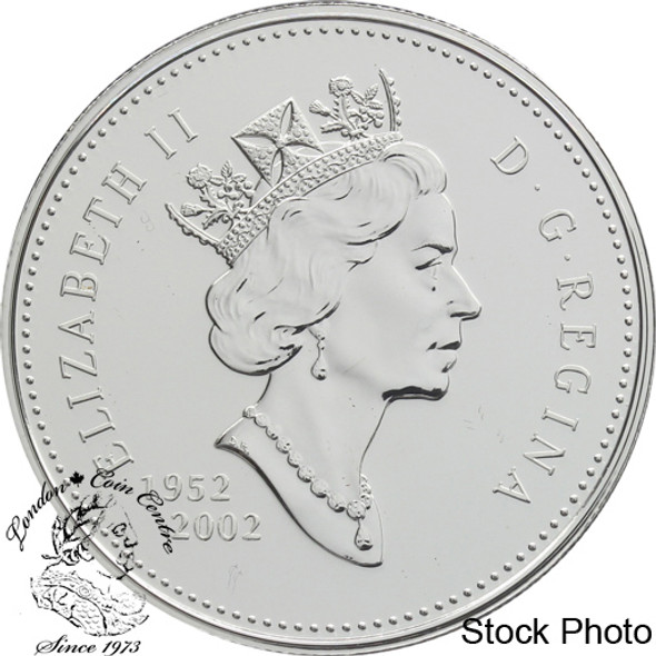 Canada: 2002 $1 50th Anniversary Queen Elizabeth II's Accession to the Throne BU Silver Dollar Coin