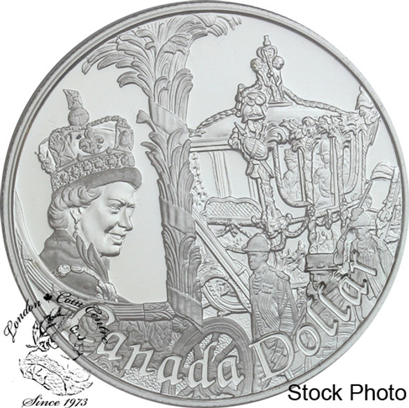 Canada: 2002 $1 50th Anniversary Queen Elizabeth II's Accession to the Throne Proof Silver Dollar Coin