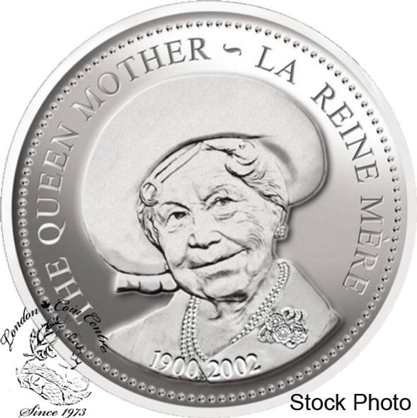 Canada: 2002 $1 Queen Elizabeth The Queen Mother Proof Silver Dollar Coin