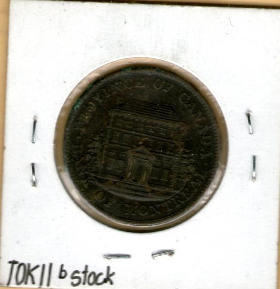 Bank of Montreal: 1844 Half Penny PC-1B1 #5b