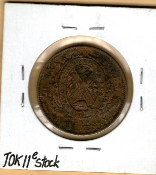 Bank of Montreal: 1844 Half Penny PC-1B4 #5e