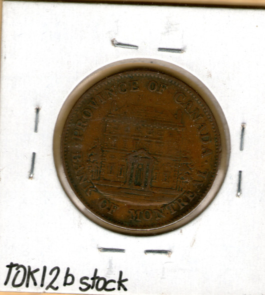 Bank of Montreal: 1844 Half Penny #6b