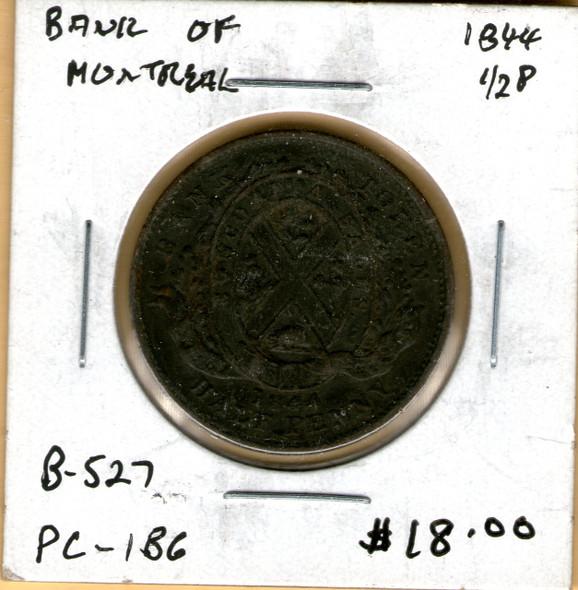 Bank of Montreal: 1844 Half Penny #6c