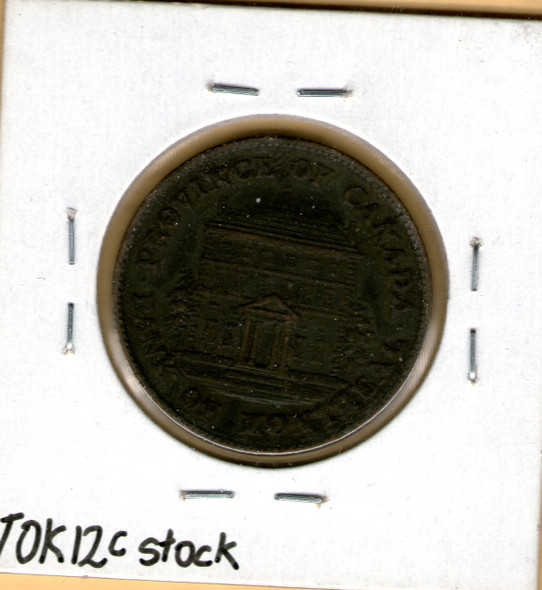 Bank of Montreal: 1844 Half Penny #6c