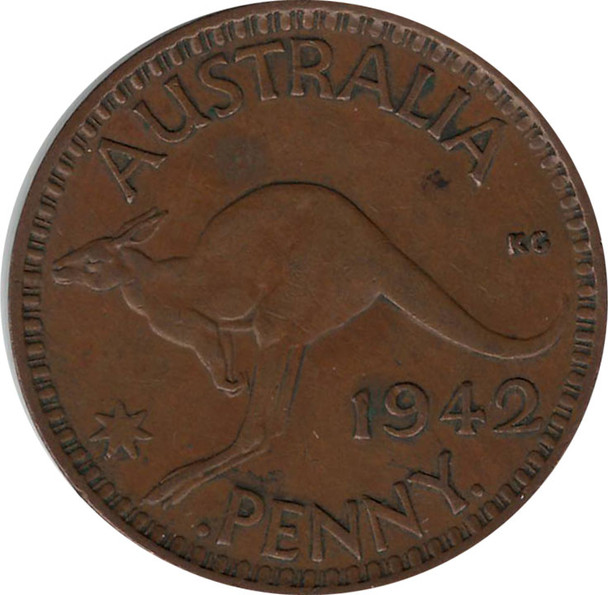 Australia: 1942B Penny VF30