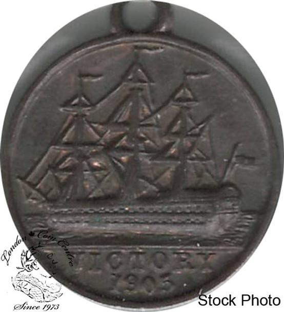 Great Britain: 1905 Nelson Centenary Medal Pendant