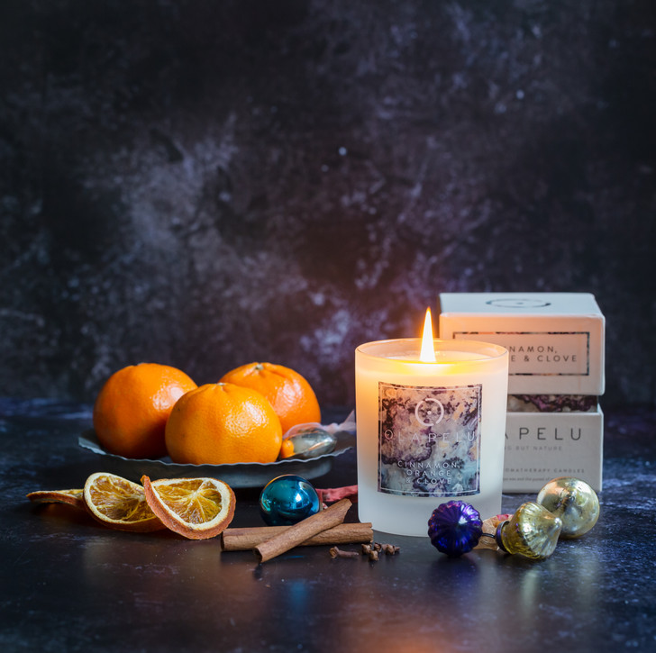 CINNAMON, ORANGE & CLOVE - ESSENTIAL OIL CANDLE
