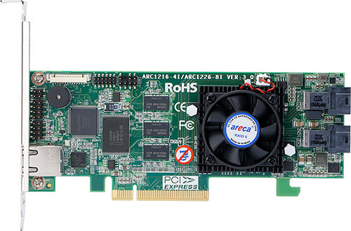 Areca ARC-1216-4i (4 Port PCIe 3.0 internal 12G SAS RAID Adapter)