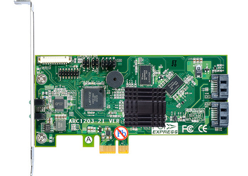 Areca ARC-1203-2I (2 Port  PCIe SATA RAID Adapter)