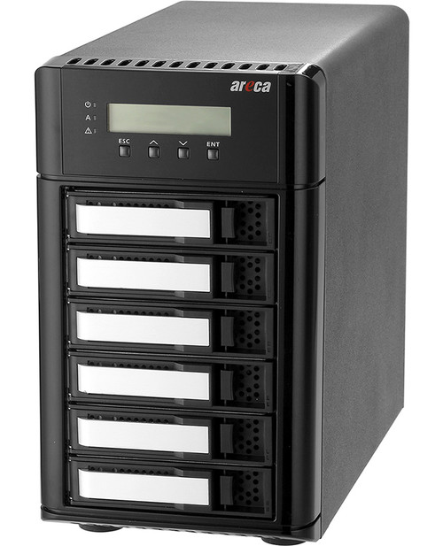 Areca ARC-8050T3U-6 (6 Bay Thunderbolt 3 / USB 3.2 Gen 2 Type C RAID Enclosure)