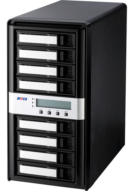 Areca ARC-8050T3U-8 (8 Bay Thunderbolt 3 / USB 3.2 Gen 2 Type C RAID Enclosure)