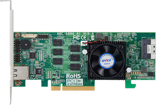 Areca ARC-1886-8i (8 Port PCIe Gen 4.0 Tri-Mode RAID Adapters)