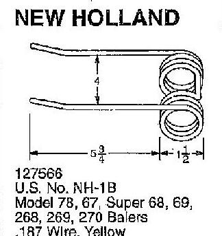 New Holland square baler steel tooth teeth 68 268 269 270