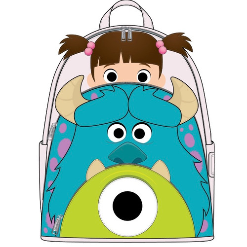 LF PIXAR MONSTERS INC BOO MIKE SULLY COSPLAY MINI BACKPACK