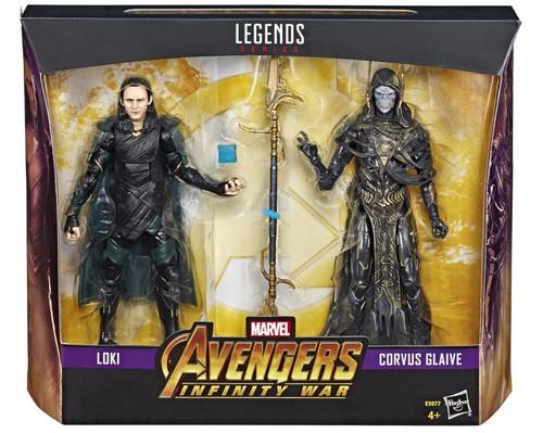 Avengers: Infinity War Marvel Legends Loki VS Corvus Glaive Exclusive Two-Pack