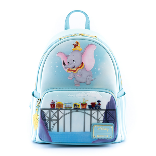 LOUNGEFLY DISNEY DUMBO 80TH ANNIVERSARY DON'T JUST FLY MINI BACKPACK FRONT