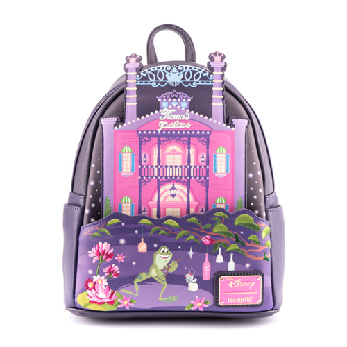 LOUNGEFLY DISNEY PRINCESS AND THE FROG TIANA'S PALACE MINI BACKPACK (WDBK1872) FRONT