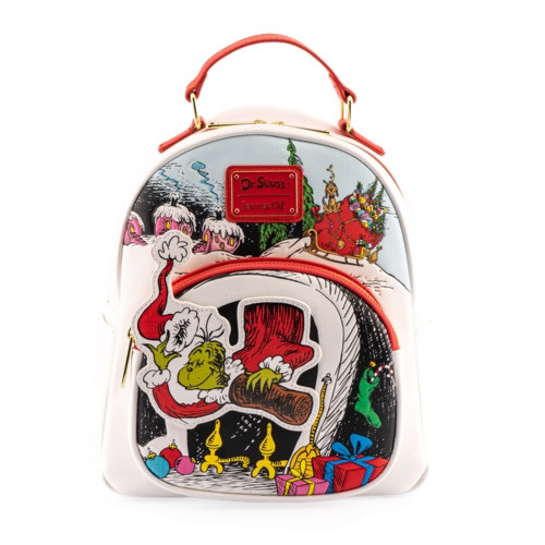 LOUNGEFLY DR. SEUSS THE GRINCH CHIMNEY THIEF MINI BACKPACK (DSSBK0023)  FRONT