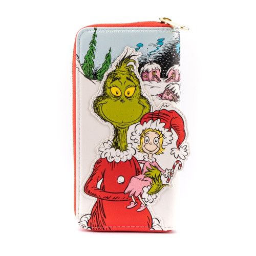 LF DR. SEUSS THE GRINCH LOVES THE HOLIDAYS ZIP AROUND WALLET
