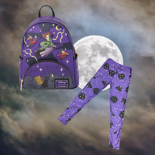 Hocus Pocus Tonight We Fly Mini Backpack with Leggings
