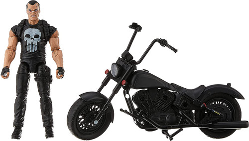 Marvel Legends The Punisher with Motorcycle Action Figure 6-Inch