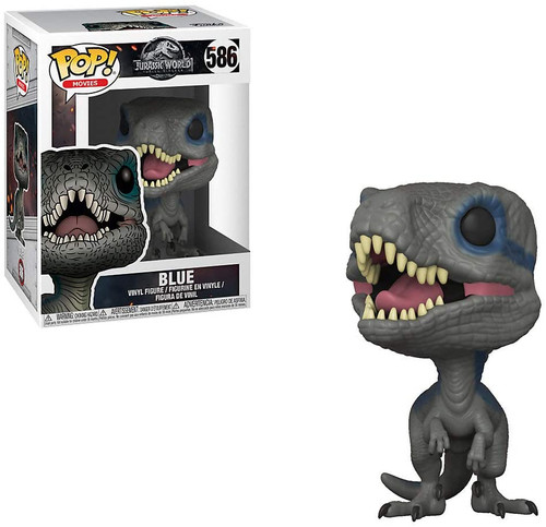 Funko Pop Movies: Jurassic World 2 - Blue, Velociraptor Collectible Figure 586 ( comes with pop protector)