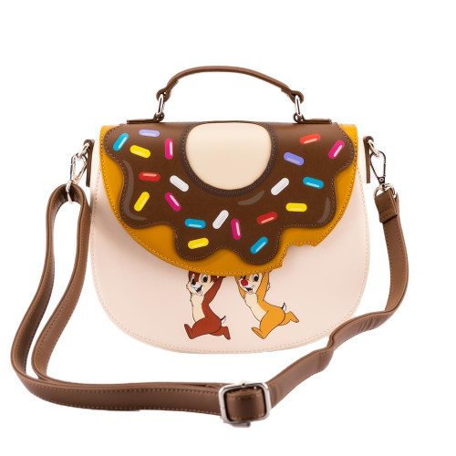 LOUNGEFLY DISNEY CHIP AND DALE DONUT SNATCHERS CROSSBODY (WDTB2385) FRONT