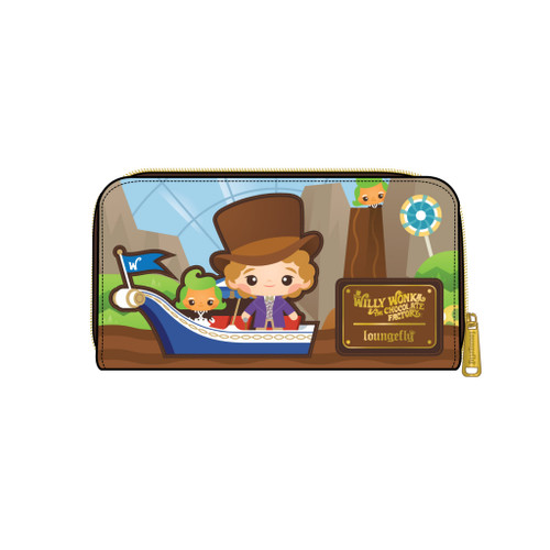 LF WB CHARLIE AND THE CHOCOLATE FACTORY 50TH ANNIVERSARY ZIP AROUND WALLET FRONT